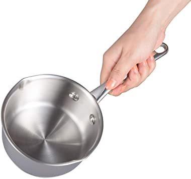 シルバー 500ml IMEEA ミルクパン 片手鍋 18-10ステンレス ソースパン 13cm IH対応 500ml 目盛付ミ_画像5