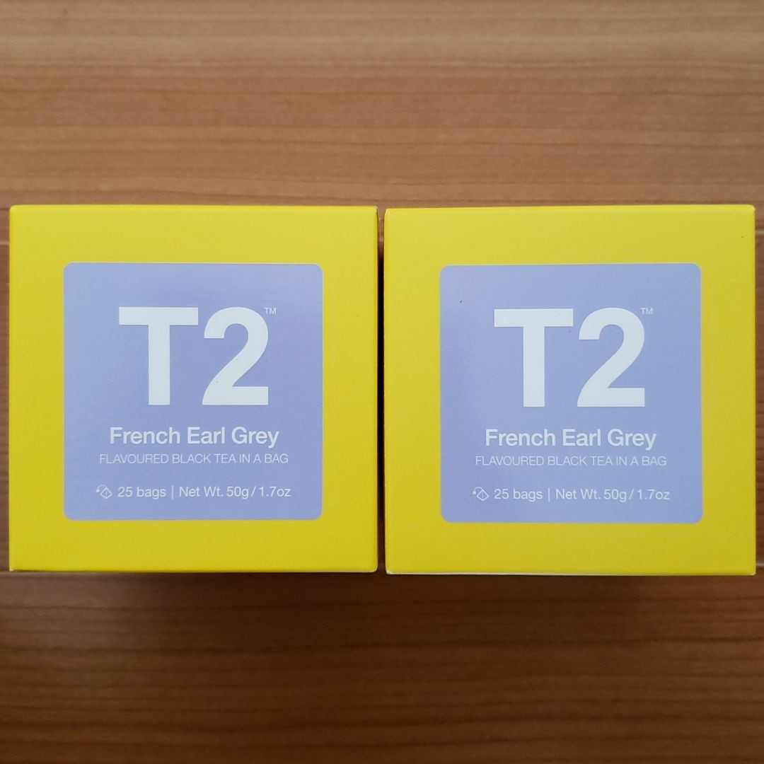 【新品未開封 2箱 50包】T2紅茶 ティーツー T2 tea フレンチアールグレイ French Earl Grey