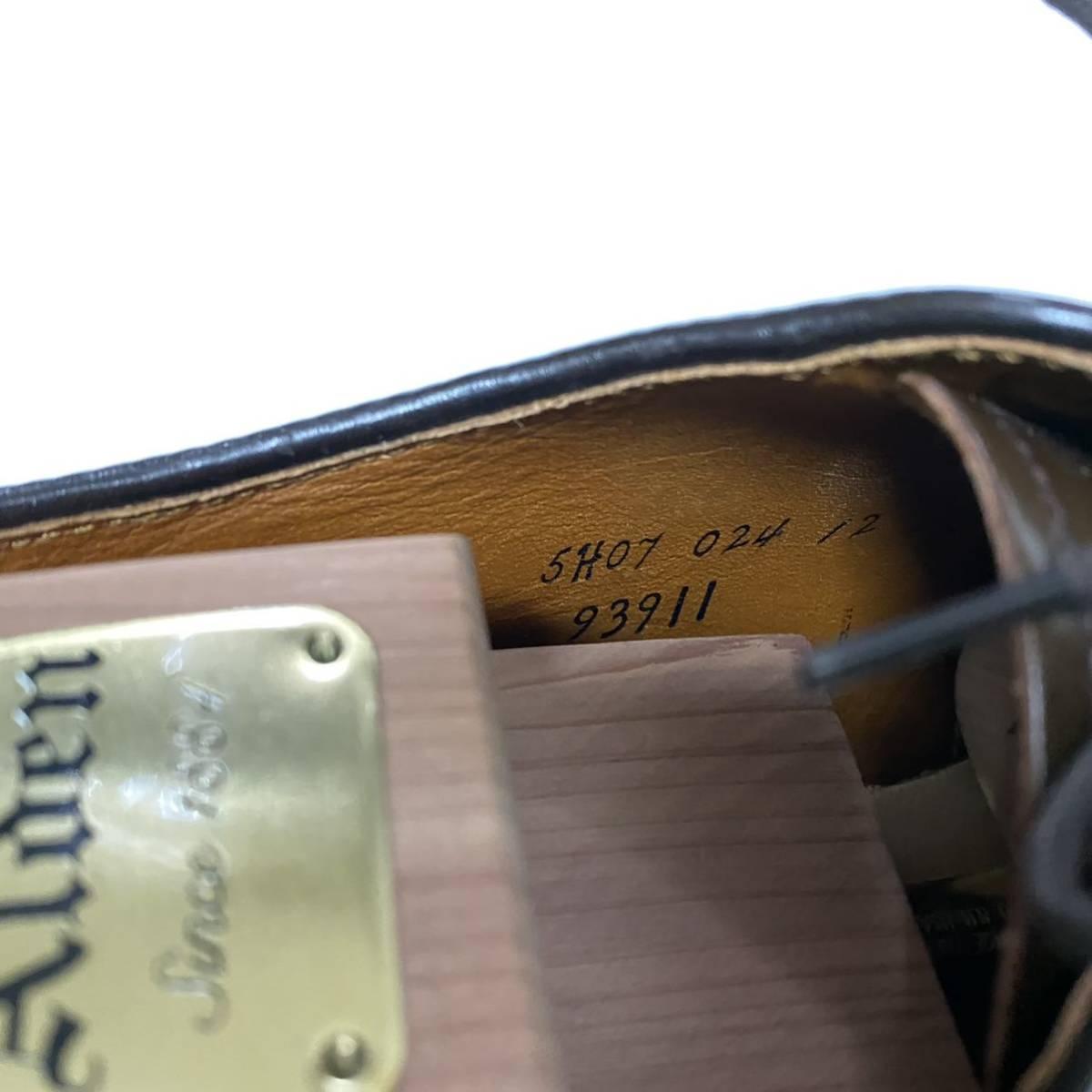 【着用3回】Alden Cigar Cordovan オールデン シガー コードバン PTB プレーントゥ 8E #93911_画像10