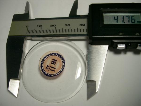 懐中時計 オープンフェイス用 ガラス風防 ストック新品 (希望サイズの在庫を確認してから入札)_画像3