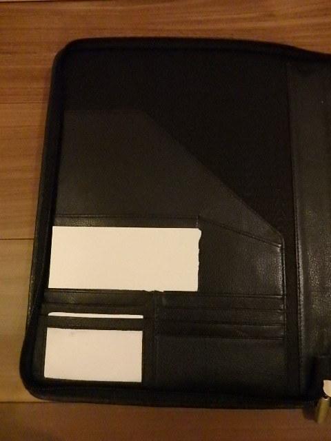 革製ファイルケース 社名刻印入り _画像4