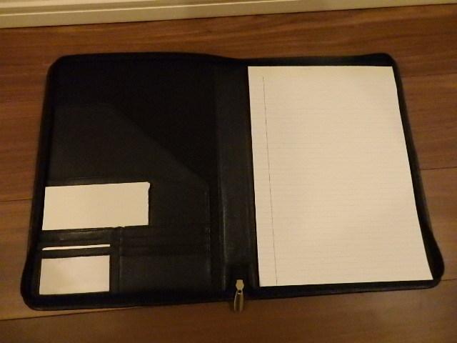 革製ファイルケース 社名刻印入り _画像3