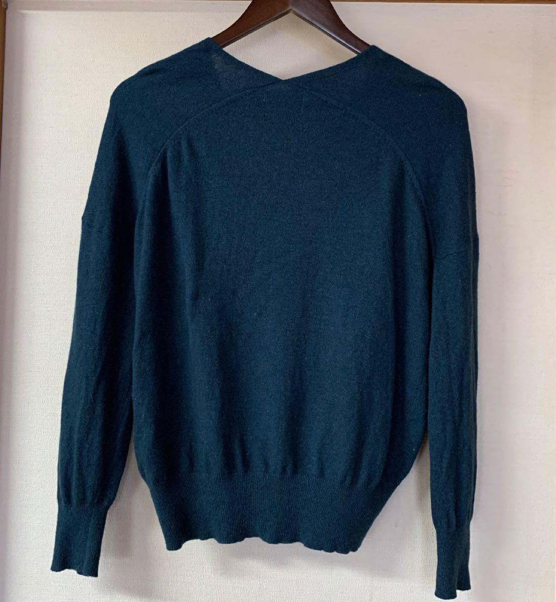 ニコアンド  niko and…   イタリア素材  カシミヤブレンド  薄手ニット  セーター