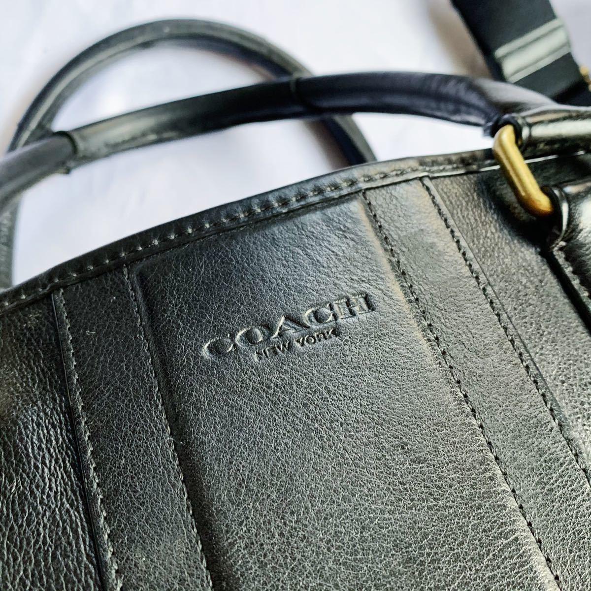 高品質 COACH ビジネスバッグ ブリーフケース  2way ショルダーバッグ 本革 ブラック