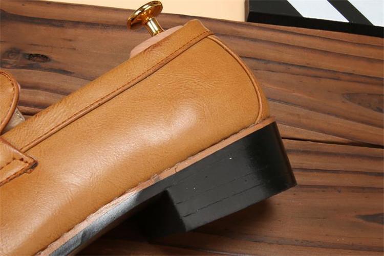 ローファー メンズ スリッポン ビジネスシューズ ドライビングシューズ 学生靴 紳士靴 タッセル ローカット ブラウン 26.5cm_画像8