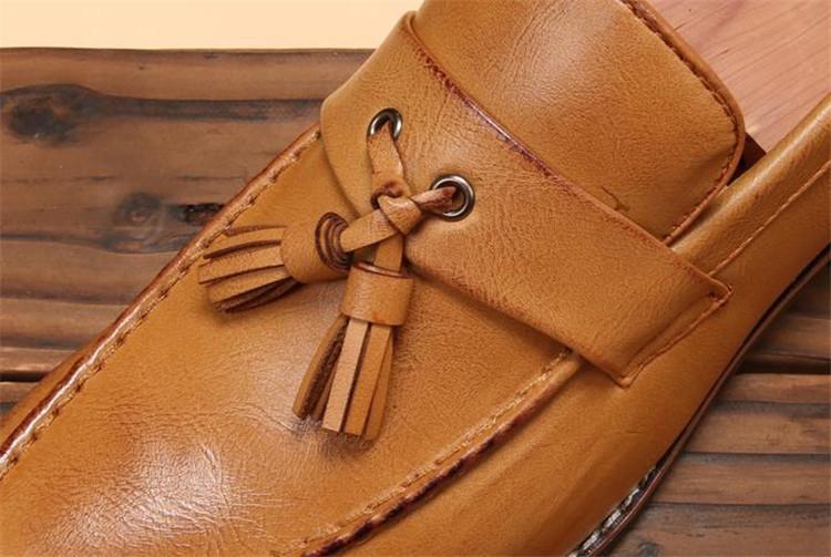 ローファー メンズ スリッポン ビジネスシューズ ドライビングシューズ 学生靴 紳士靴 タッセル ローカット ブラウン 26.5cm_画像7