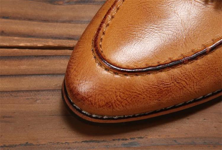 ローファー メンズ スリッポン ビジネスシューズ ドライビングシューズ 学生靴 紳士靴 タッセル ローカット ブラウン 26.5cm_画像6