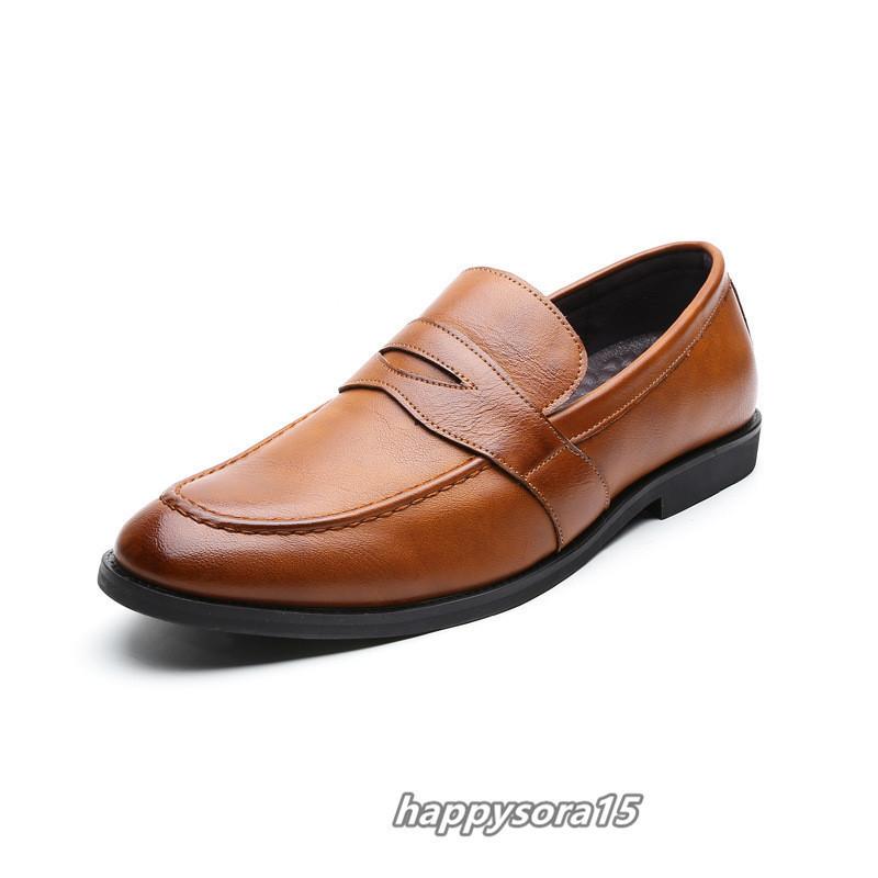 ローファー メンズ スリッポン ビジネスシューズ カジュアル  ドライビングシューズ 紳士靴 通学 イエロー 25.5cm_画像3
