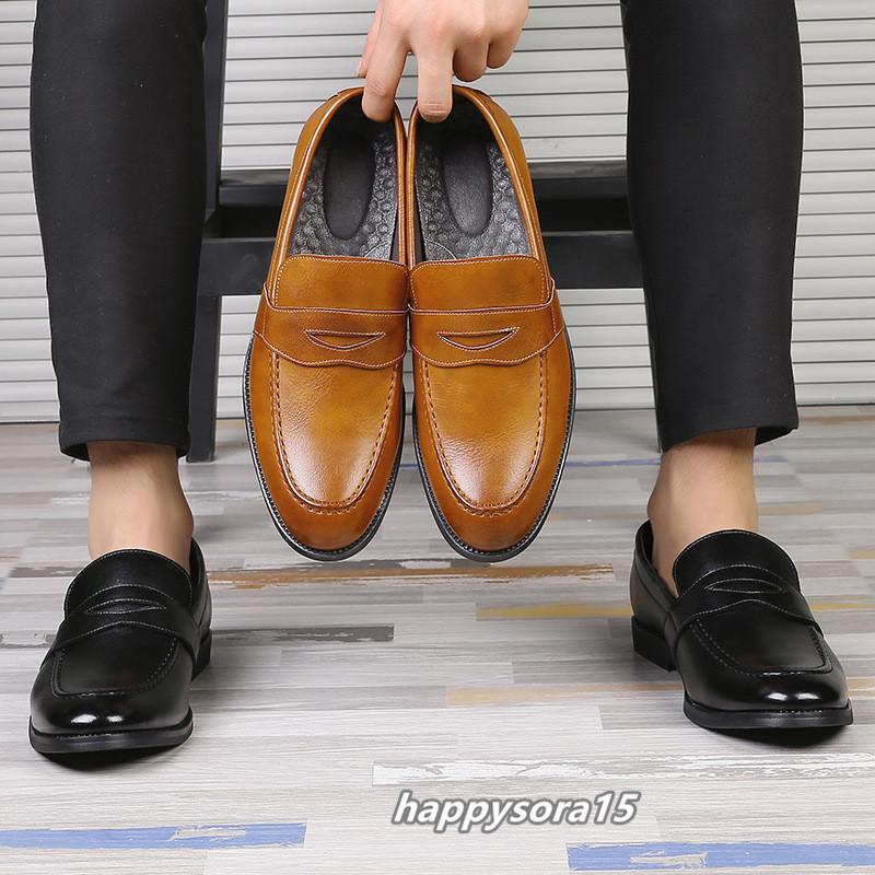 ローファー メンズ スリッポン ビジネスシューズ カジュアル  ドライビングシューズ 紳士靴 通学 イエロー 25.5cm_画像5