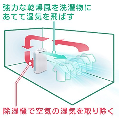 ピンク ピンク アイリスオーヤマ 衣類乾燥除湿機 強力除湿 タイマー付 静音設計 除湿量2.2L デシカント方式 ピンク IJD_画像10