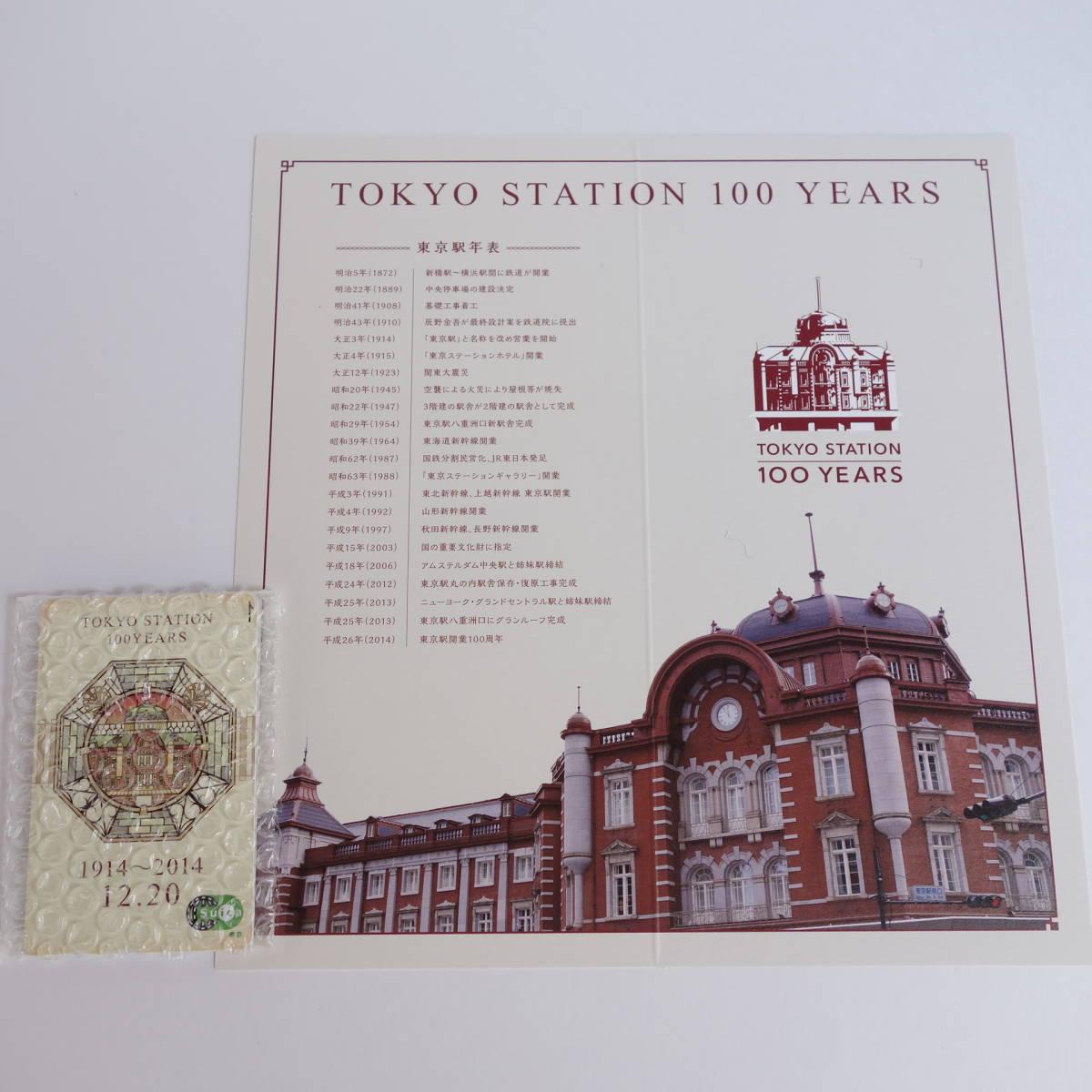 東京駅開業100周年記念 Suica 台紙付【新品・完全未使用】_画像2