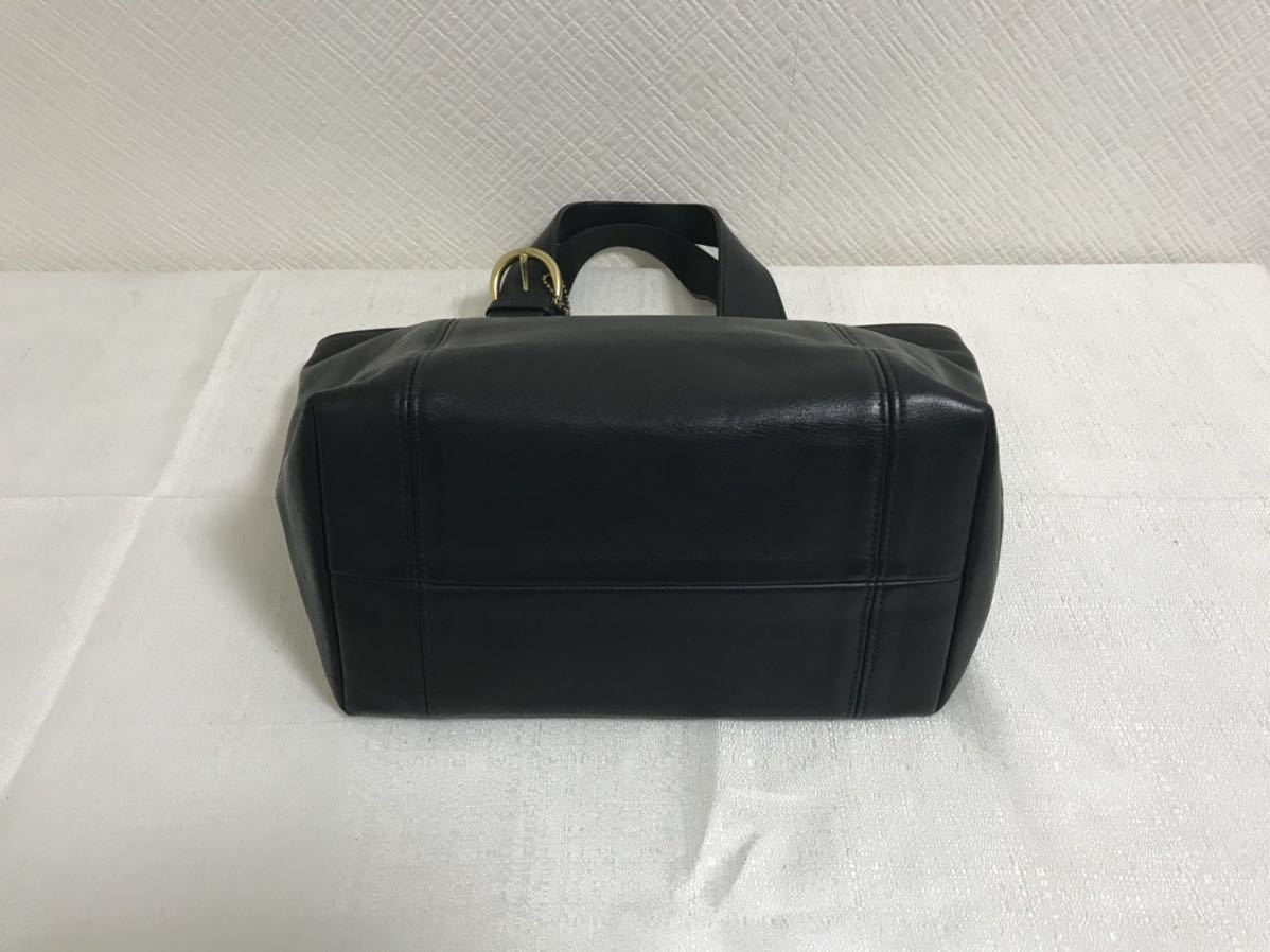 美品本物オールドコーチCOACH本革レザーミニトートビジネスハンドバッグミニボストンバック黒ブラックトラベル旅行メンズレディース
