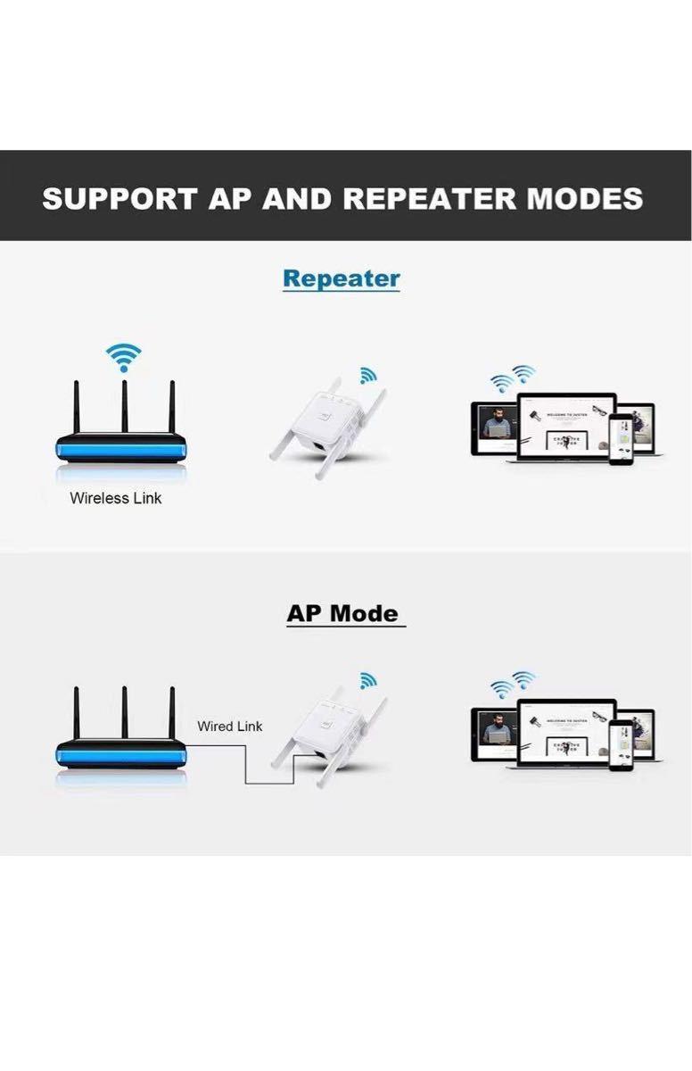 WiFi 無線LAN 中継器 Wi-Fi 中継機 WiFi 中継器 1200Mbps 5GHz 867Mbps, 2.4GHz