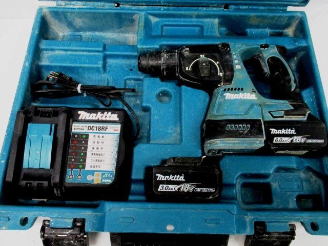 makita マキタ HR244D 充電式 24mm ハンマドリル バッテリ BL1860B 6.0Ah 1台 BL1830B 3.
