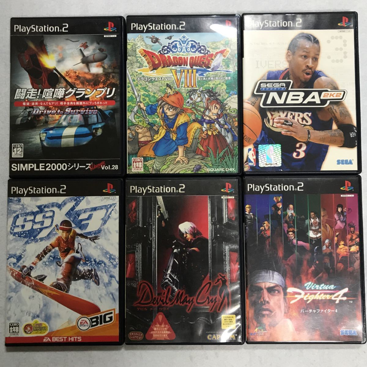 PS2 ソフト 6本セット まとめ売り