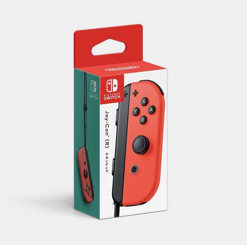 【送料無料!】新品 Joy-Con(R) ネオンレッド コントローラー任天堂 Nintendo ニンテンドースイッチジョイコン Nintendo Switch 未使用品_画像1