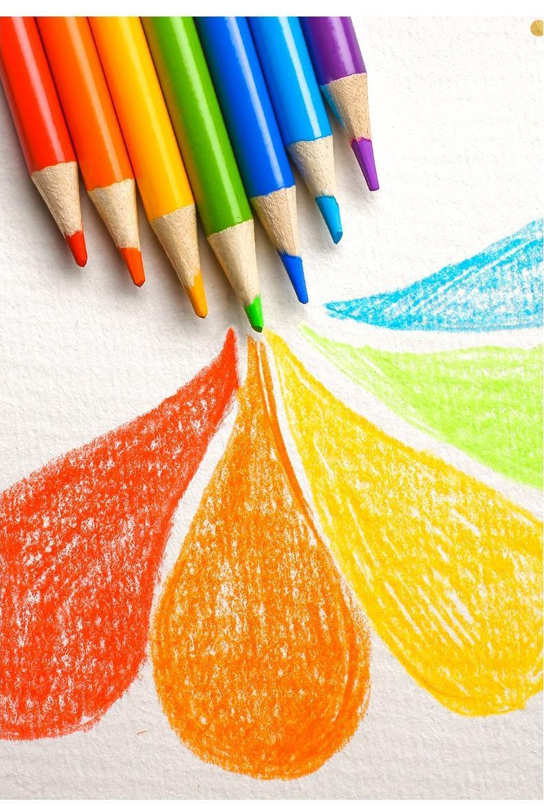 沢山使える♪48色セットでお得!!色鉛筆 オイルカラー アーティスト 絵画 写生 学校 画材 塗り絵_画像7