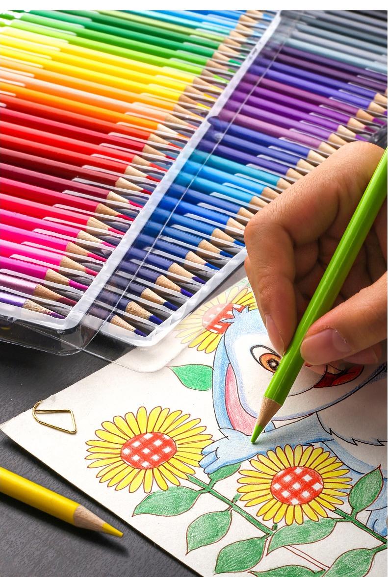 沢山使える♪48色セットでお得!!色鉛筆 オイルカラー アーティスト 絵画 写生 学校 画材 塗り絵_画像5