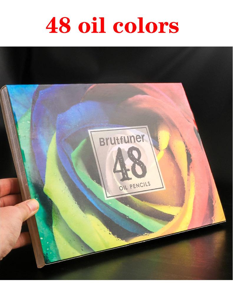 沢山使える♪48色セットでお得!!色鉛筆 オイルカラー アーティスト 絵画 写生 学校 画材 塗り絵_画像2