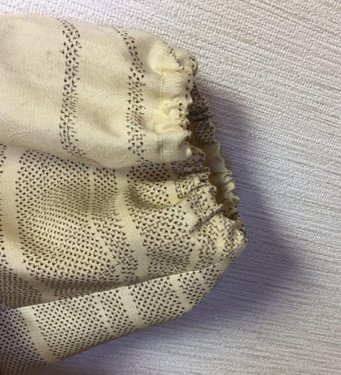 ゆったりワンピース 着物リメイク 紬切り替え チュニック ハンドメイド