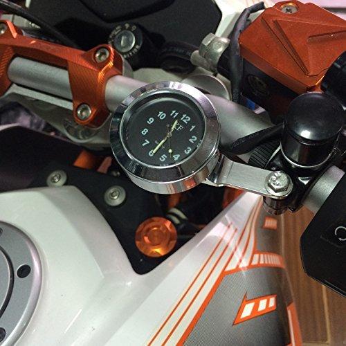 Bruce & Shark(ブルース・サメ)バイク・オートバイ用 ハンドルバー ブレーキクラッチ マウント クロック 時計 防水_画像5