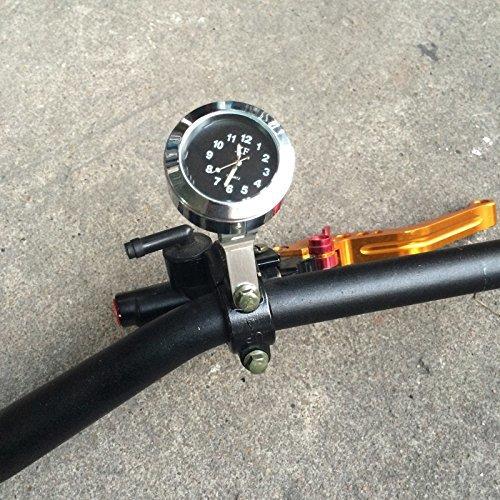 Bruce & Shark(ブルース・サメ)バイク・オートバイ用 ハンドルバー ブレーキクラッチ マウント クロック 時計 防水_画像6