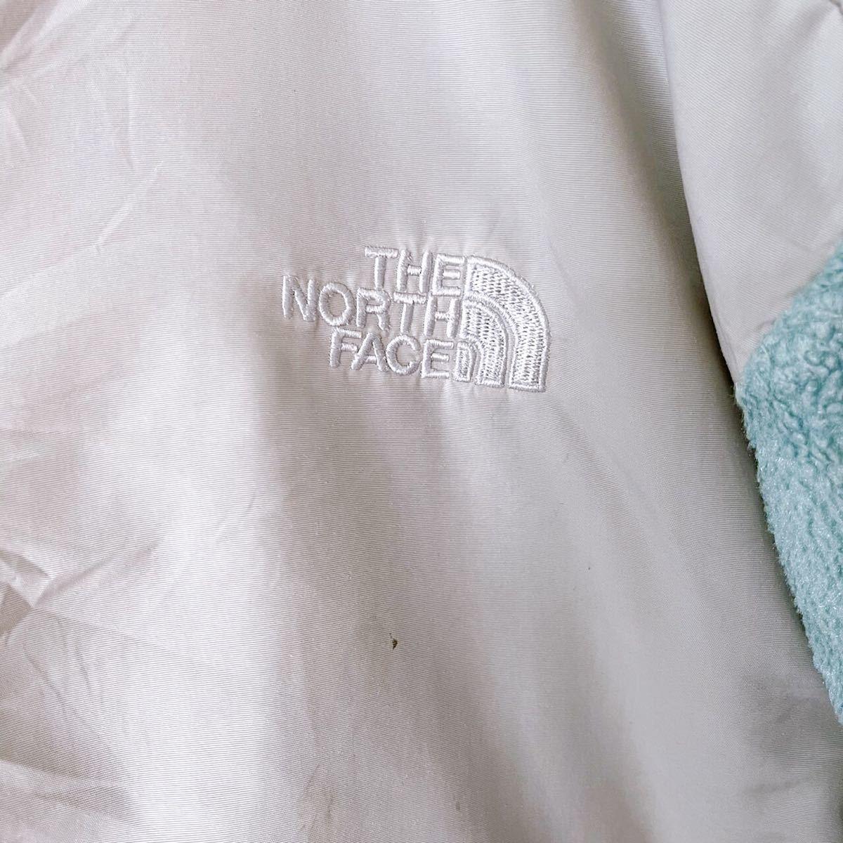 ノースフェイス 古着 レディース フリース デナリジャケット ブルー青水色 XL THE NORTH FACE ナイロン