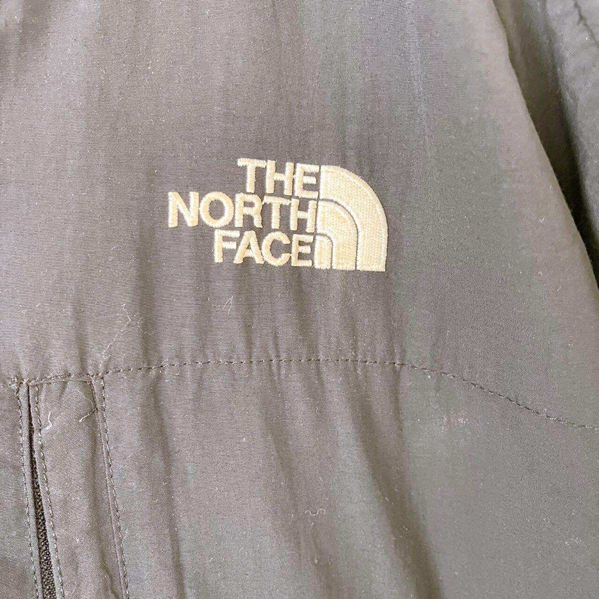 ノースフェイス デナリジャケット マウンテンパーカー グレー XL 海外製 古着 フリースジャケット 切替 ナイロン フリース