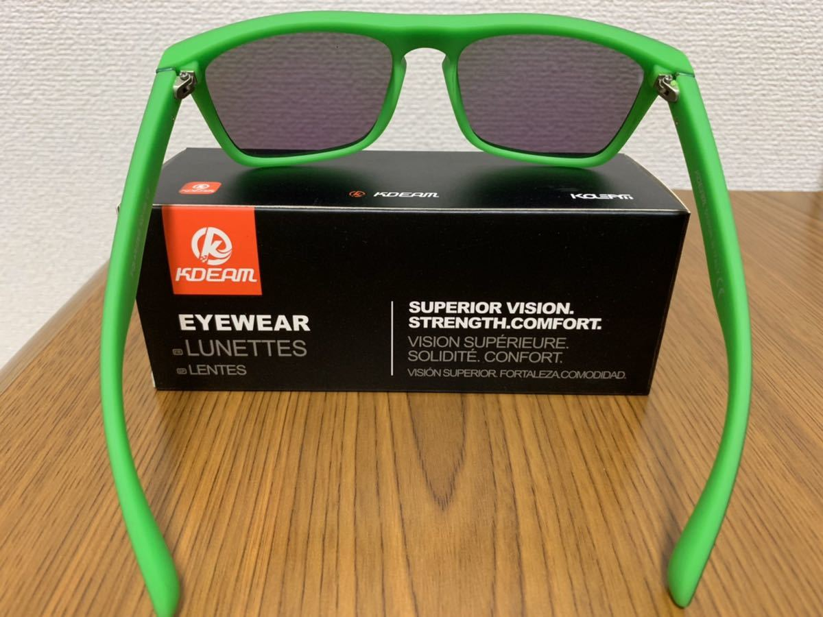 新品未使用♪kdeam最新偏光レンズサングラス グリーンミラーレンズ 即購入可