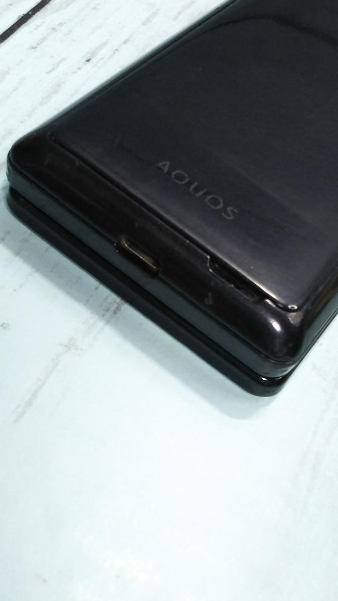 docomo AQUOS SH-06G ブラック 本体 白ロム SIMロック解除済み SIMフリー 444427_画像9
