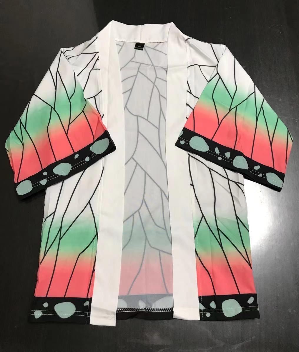 鬼滅の刃 胡蝶しのぶ 羽織のみ 子供用 コスプレ衣装 男女兼用