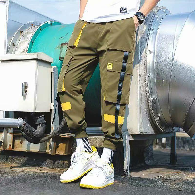 テーパードパンツ カーゴパンツ ボトムス ワークパンツ ジョガーパンツ メンズ レディース カーゴパンツ パンツ M カーキ グリーン 緑