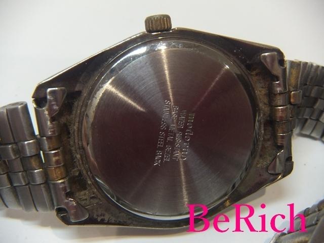 モデルノ moderno メンズ 腕時計 白 ホワイト 文字盤 SS シルバー ゴールド デイト アナログ クォーツ QZ ウォッチ 【中古】ht2067_画像4