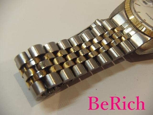 モデルノ moderno メンズ 腕時計 白 ホワイト 文字盤 SS シルバー ゴールド デイト アナログ クォーツ QZ ウォッチ 【中古】ht2067_画像8