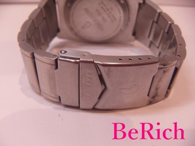 ニクソン NIXON メンズ 腕時計 白 ホワイト 文字盤 SS シルバー デイデイト アナログ クォーツ QZ ウォッチ 【中古】ht2150_画像6