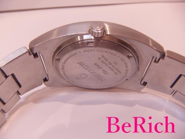 ニクソン NIXON メンズ 腕時計 白 ホワイト 文字盤 SS シルバー デイデイト アナログ クォーツ QZ ウォッチ 【中古】ht2150_画像4