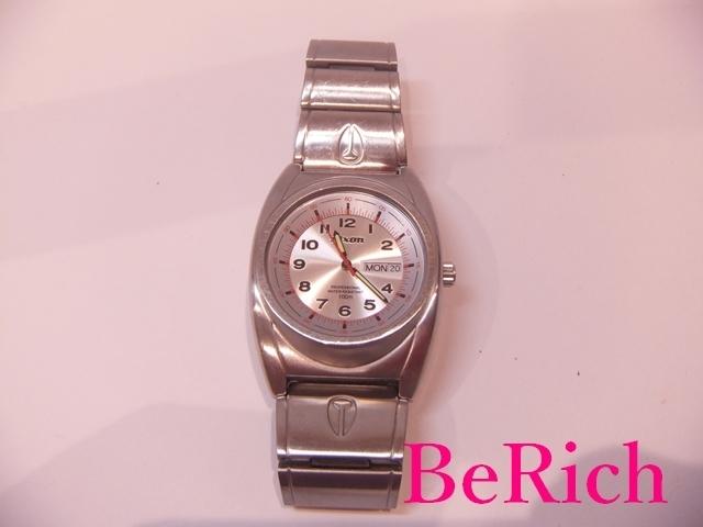 ニクソン NIXON メンズ 腕時計 白 ホワイト 文字盤 SS シルバー デイデイト アナログ クォーツ QZ ウォッチ 【中古】ht2150_画像7