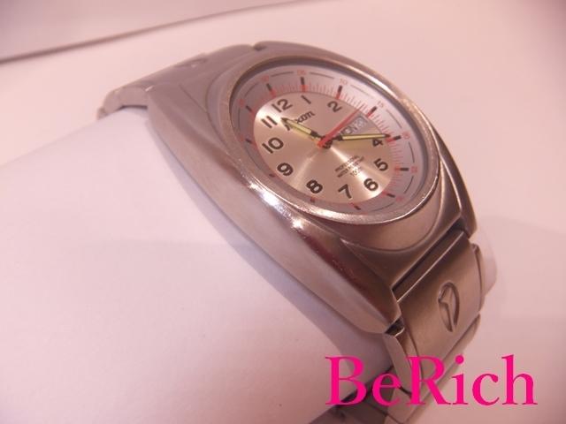 ニクソン NIXON メンズ 腕時計 白 ホワイト 文字盤 SS シルバー デイデイト アナログ クォーツ QZ ウォッチ 【中古】ht2150_画像3