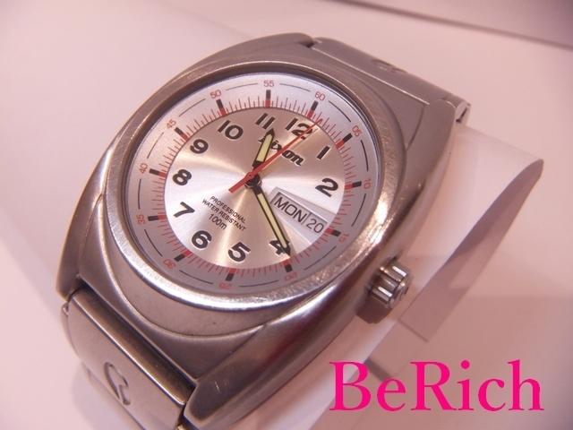 ニクソン NIXON メンズ 腕時計 白 ホワイト 文字盤 SS シルバー デイデイト アナログ クォーツ QZ ウォッチ 【中古】ht2150_画像2
