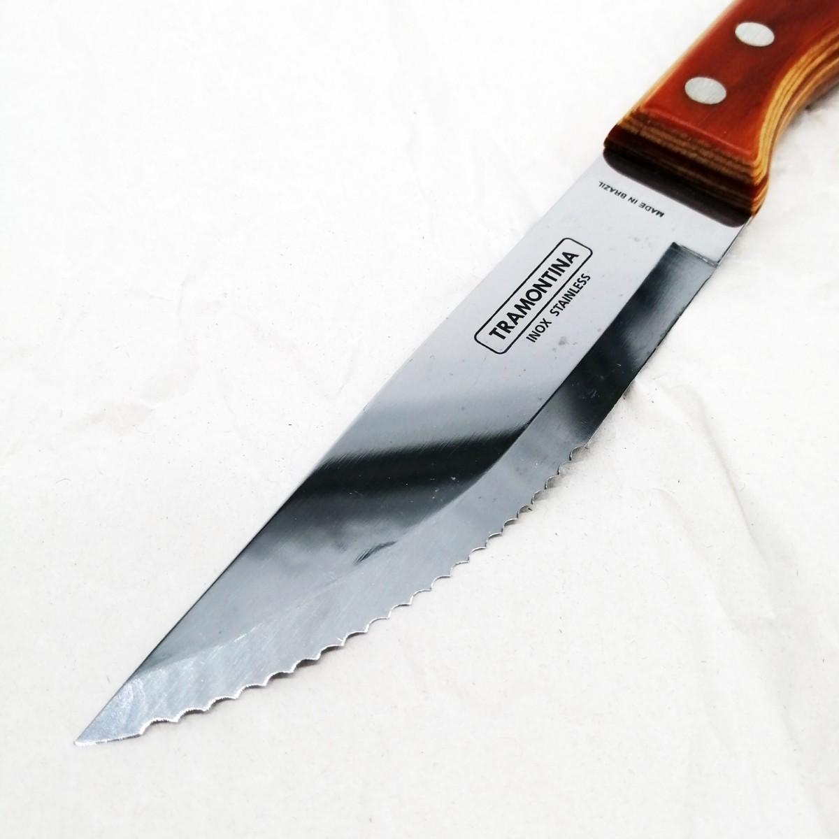 【未使用・新品】トラモンティーナ ポリウッドジャンボステーキナイフ 4本セット