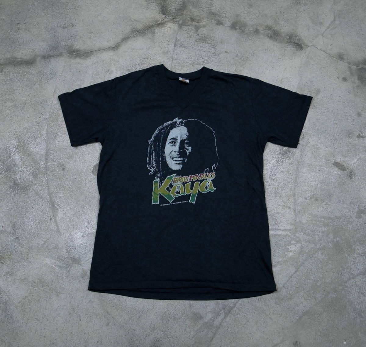 デッドストック 80s 90s ボブ・マーリー Bob Marley レゲエ Reggae ビンテージ Tシャツ JAMAICA製 ジャマイカ ロックT RAP TEE _画像3