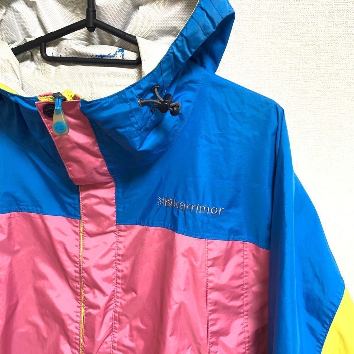 【レア】●karrimor マウンテンパーカー カリマー クレイジーカラー ピンク ナイロン アウトドア クライミング 登山 キャンプ