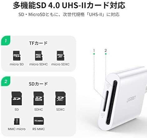 USB Type C 2 in 1SDカード/TFカード カードリーダー コンパクト Mac Book Pro 等 USB-Cデバイス 対応 2in1