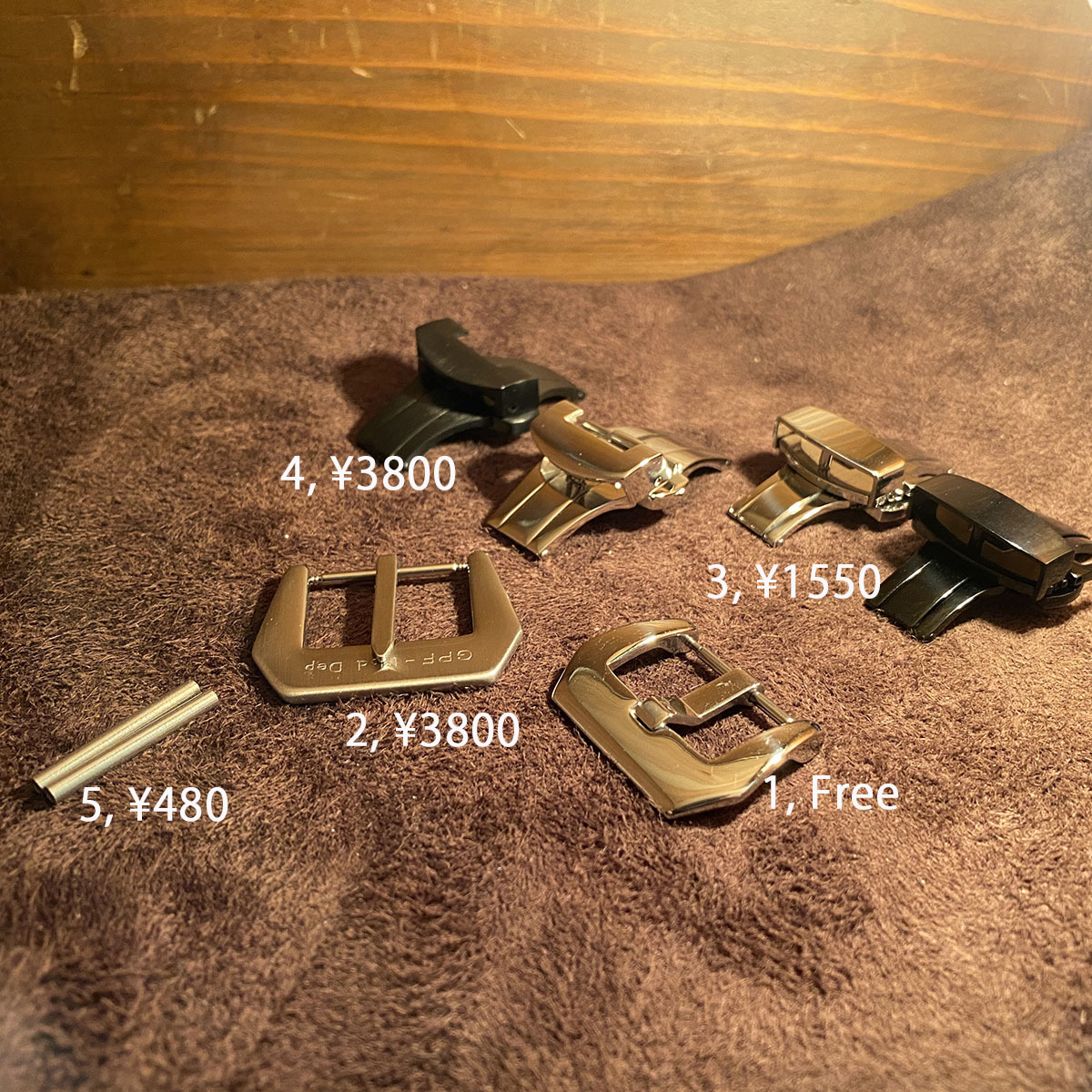 pyt-66 パイソン レザー 腕時計ベルト ダークブルー (ラグ幅24mm - バックル幅22mm) pyt-66_画像8