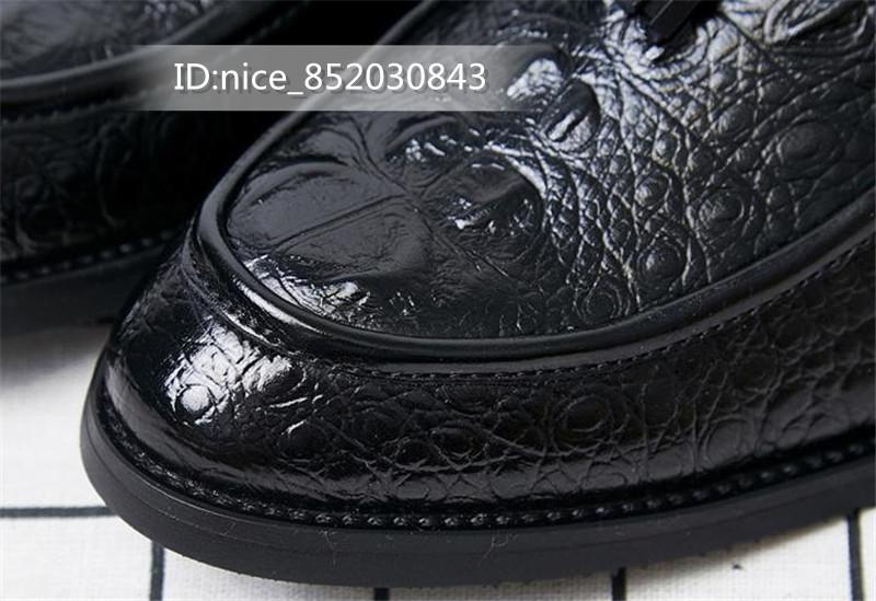 タッセルローファー ビジネスシューズ メンズ 紳士靴 シューズ カジュアル ワニ柄 スリッポンドライビングシューズ 黒24.5cm_画像6