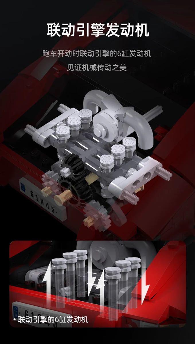 LEGO互換 ポルシェ 赤_画像6