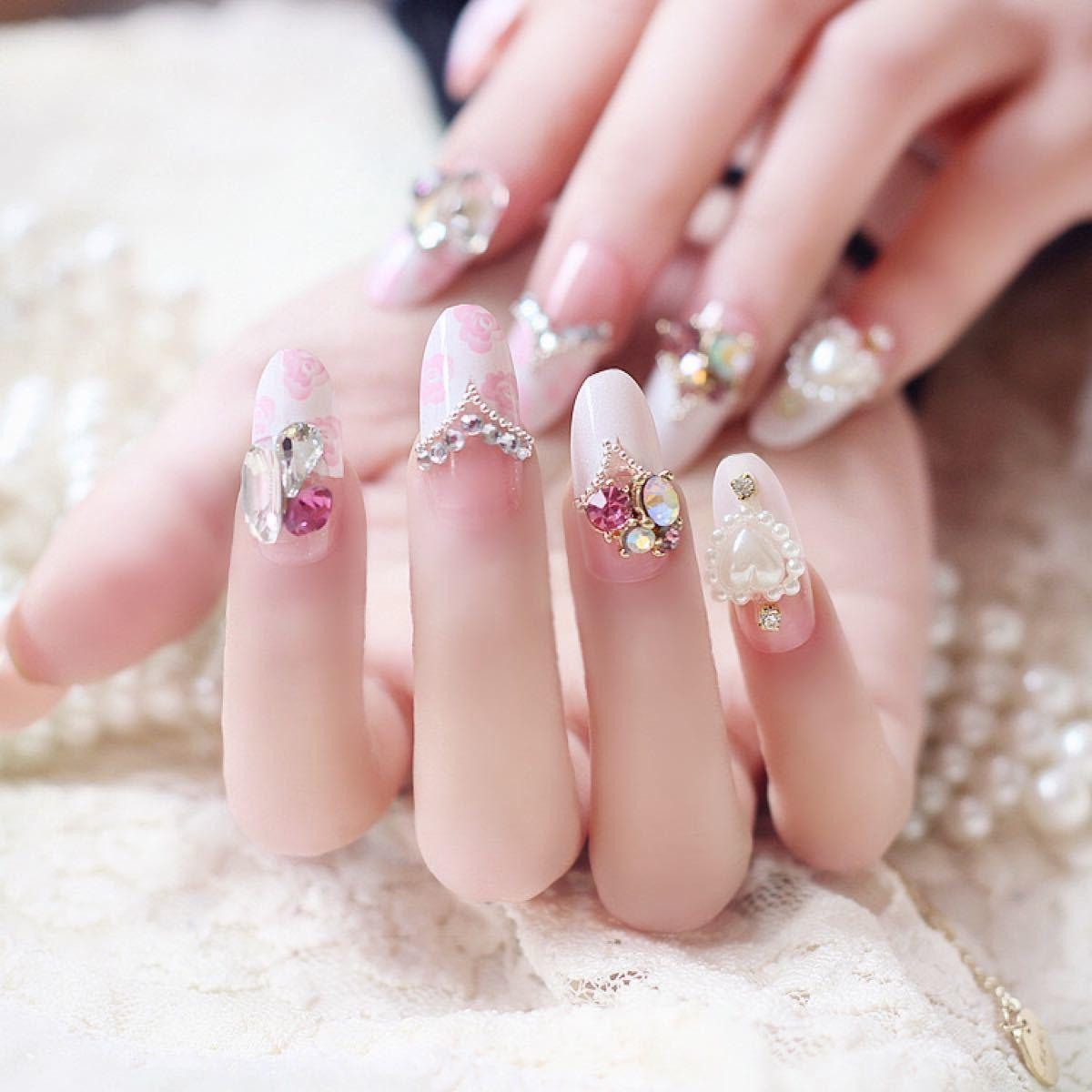 ネイルチップ 結婚式 ネイルアート つけ爪