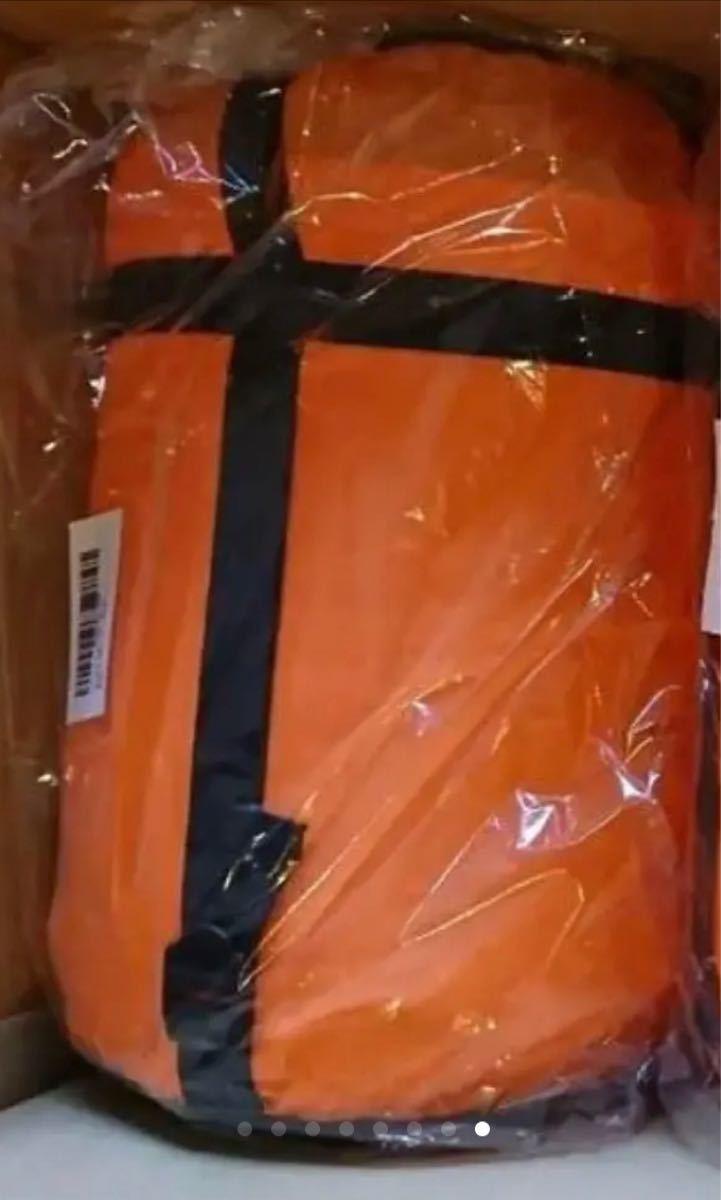 2点セット 寝袋 コンパクト キャンプ 封筒型 抗菌 車中泊 夜勤 防災グッズ -7℃ 避難 ふわふわ オレンジ アウトドア