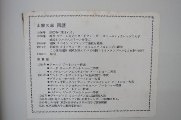 HX131A 山家久幸 リトグラフ 1988年作 4/50 ライオン えんぴつサイン入り 外箱付 額付_画像8