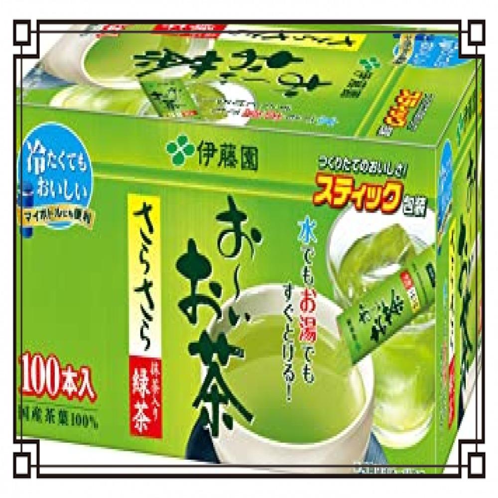 伊藤園 おーいお茶 抹茶入りさらさら緑茶 0.8g×100本 (スティックタイプ)_画像1